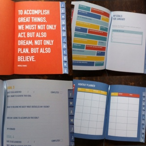 This is how the Kikki K Goals Journal is organised for each month. There's a whole lot of helpful information and activities to do on goal setting before you get specific for each month.